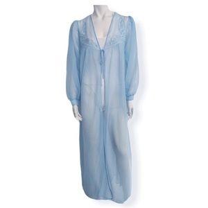 Vintage baby blue chiffon robe
